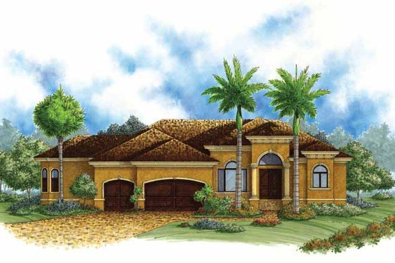Dream House Plan - Mediterranean Exterior - Front Elevation Plan #1017-138