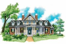 Victorian Exterior - Front Elevation Plan #930-215