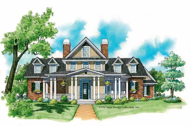 Victorian Exterior - Front Elevation Plan #930-215