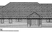 Traditional Style House Plan - 2 Beds 2.5 Baths 1988 Sq/Ft Plan #70-264 Exterior - Rear Elevation