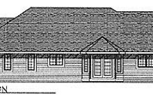 Dream House Plan - Traditional Exterior - Rear Elevation Plan #70-264