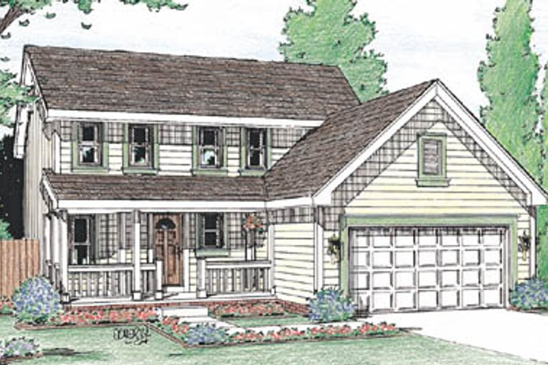 Home Plan - Traditional Exterior - Front Elevation Plan #20-2032