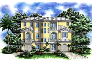 Cottage Exterior - Front Elevation Plan #27-249