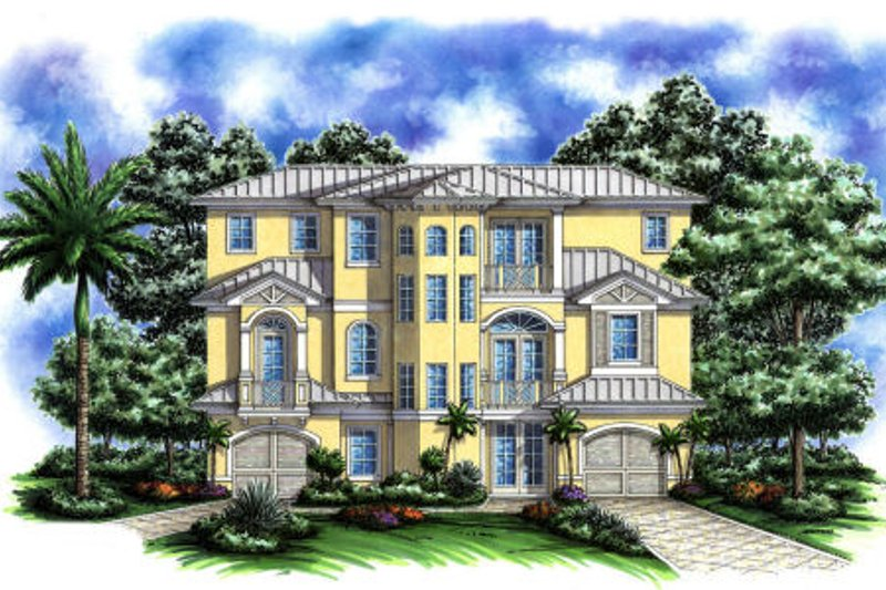 Cottage Style House Plan - 3 Beds 3 Baths 2905 Sq/Ft Plan #27-249 Exterior - Front Elevation