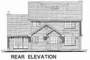 Traditional Style House Plan - 3 Beds 2.5 Baths 1781 Sq/Ft Plan #18-269 Exterior - Rear Elevation