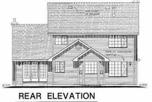 House Blueprint - Traditional Exterior - Rear Elevation Plan #18-269