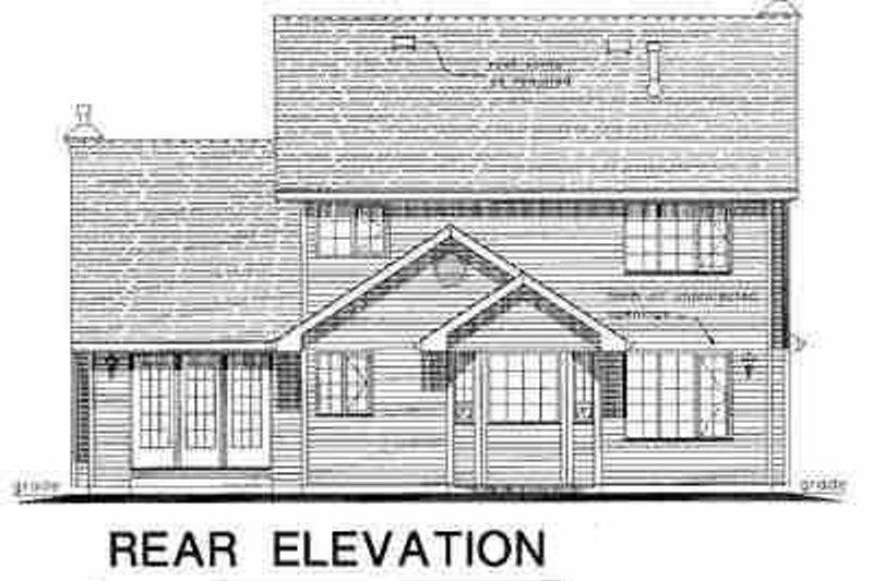 Traditional Exterior - Rear Elevation Plan #18-269 - Houseplans.com
