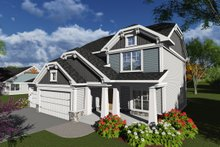 Dream House Plan - Bungalow Exterior - Front Elevation Plan #70-1247
