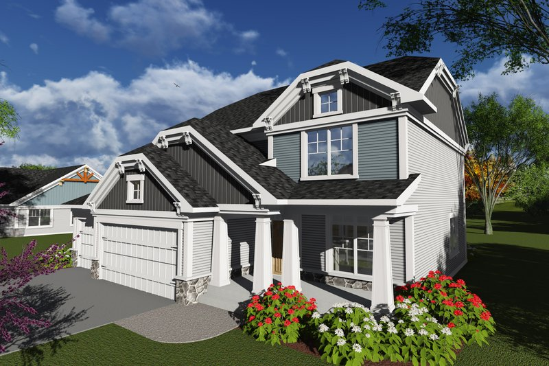 Home Plan - Bungalow Exterior - Front Elevation Plan #70-1247