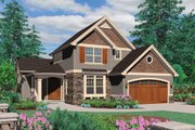 Craftsman Style House Plan - 3 Beds 2.5 Baths 2079 Sq/Ft Plan #48-118 Exterior - Front Elevation