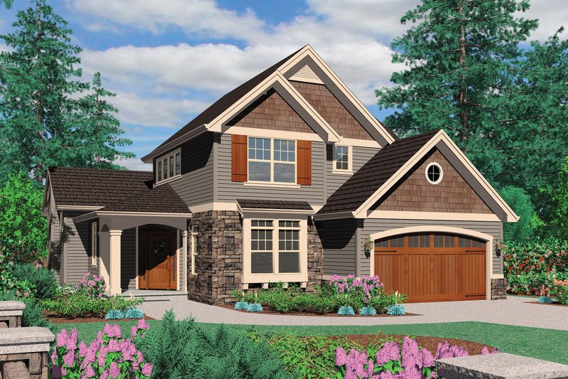 Front Elevation Craftsman : Craftsman style house plan beds baths sq ft