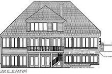 Home Plan Design - Traditional Exterior - Rear Elevation Plan #56-210