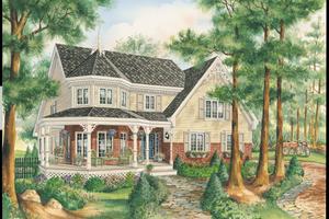 Victorian Exterior - Front Elevation Plan #25-4765