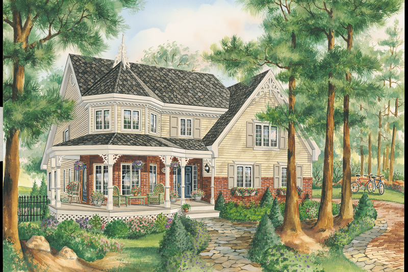 Victorian Style House Plan - 3 Beds 1 Baths 1835 Sq/Ft Plan #25-4765