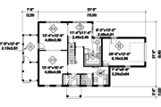 Colonial Style House Plan - 3 Beds 1 Baths 1939 Sq/Ft Plan #25-4761 Floor Plan - Main Floor Plan
