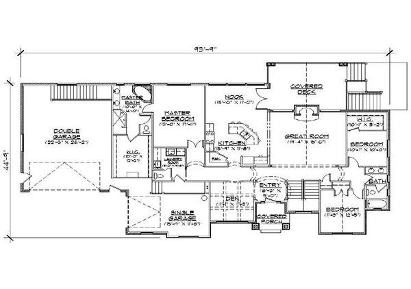 Traditional Floor Plan - Main Floor Plan Plan #5-273