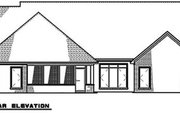 European Style House Plan - 4 Beds 2.5 Baths 2509 Sq/Ft Plan #923-187 Exterior - Rear Elevation