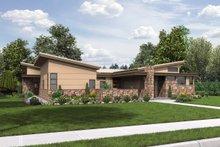 Dream House Plan - Modern Exterior - Front Elevation Plan #48-479