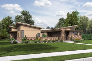 Modern Exterior - Front Elevation Plan #48-479