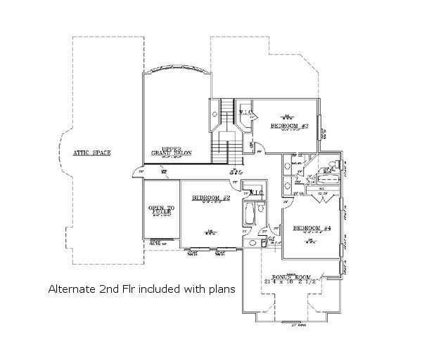 European Floor Plan - Other Floor Plan Plan #119-129