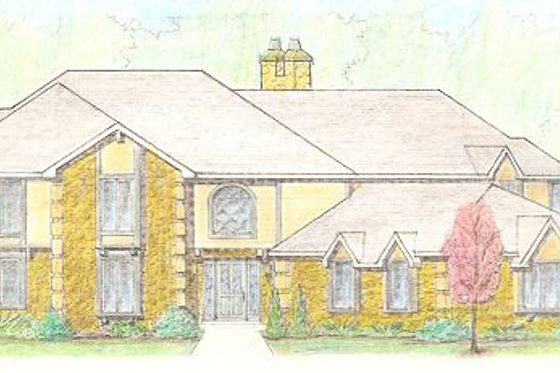 Traditional Exterior - Front Elevation Plan #421-130