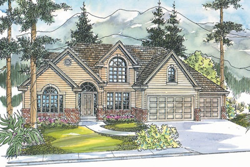 Exterior - Front Elevation Plan #124-716