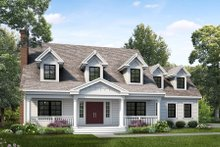 Colonial Exterior - Front Elevation Plan #47-891
