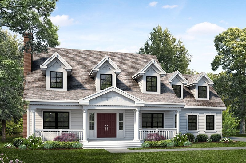 Architectural House Design - Colonial Exterior - Front Elevation Plan #47-891