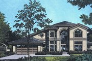 European Style House Plan - 3 Beds 3 Baths 2973 Sq/Ft Plan #417-351 Exterior - Front Elevation