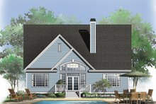 Country Exterior - Rear Elevation Plan #929-757