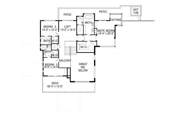 Modern Floor Plan - Upper Floor Plan Plan #920-91