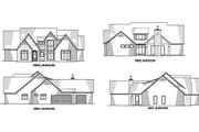 Contemporary Style House Plan - 3 Beds 4.5 Baths 2641 Sq/Ft Plan #923-125 Exterior - Other Elevation