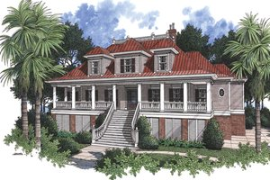 Home Plan - Country Exterior - Front Elevation Plan #37-267