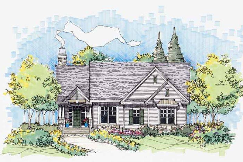 Craftsman Exterior - Front Elevation Plan #929-565