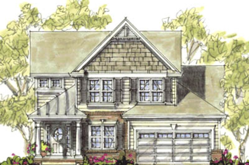 Bungalow Exterior - Front Elevation Plan #20-1230