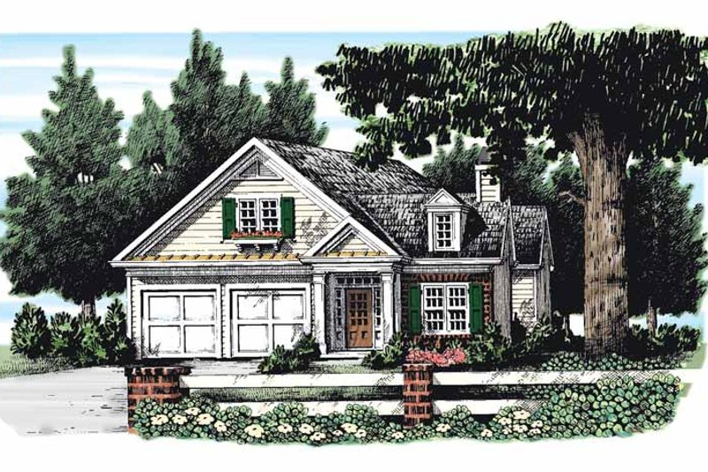 Classical Exterior - Front Elevation Plan #927-268