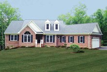 Ranch Exterior - Front Elevation Plan #314-219
