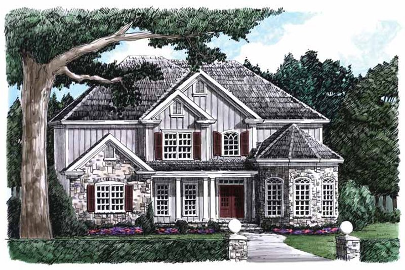 Country Exterior - Front Elevation Plan #927-789