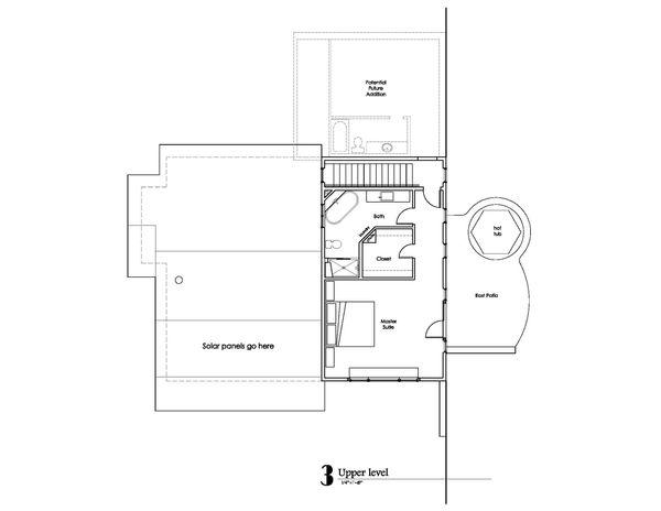 Craftsman Floor Plan - Upper Floor Plan Plan #902-1