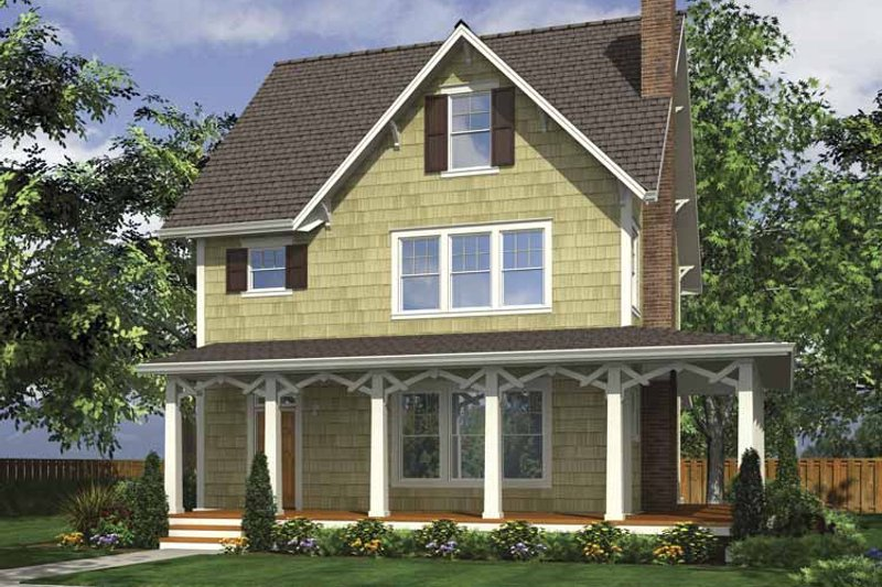 Home Plan - Country Exterior - Front Elevation Plan #48-874
