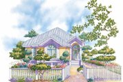 Country Style House Plan - 2 Beds 2 Baths 1288 Sq/Ft Plan #930-73 Exterior - Front Elevation