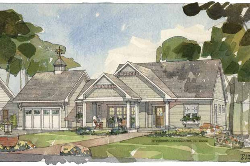Craftsman Exterior - Front Elevation Plan #928-79