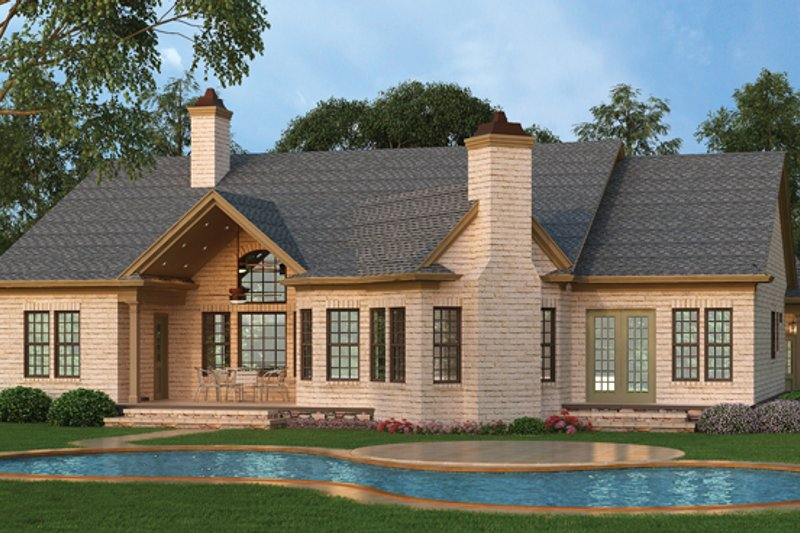 Craftsman Exterior - Rear Elevation Plan #119-422 - Houseplans.com