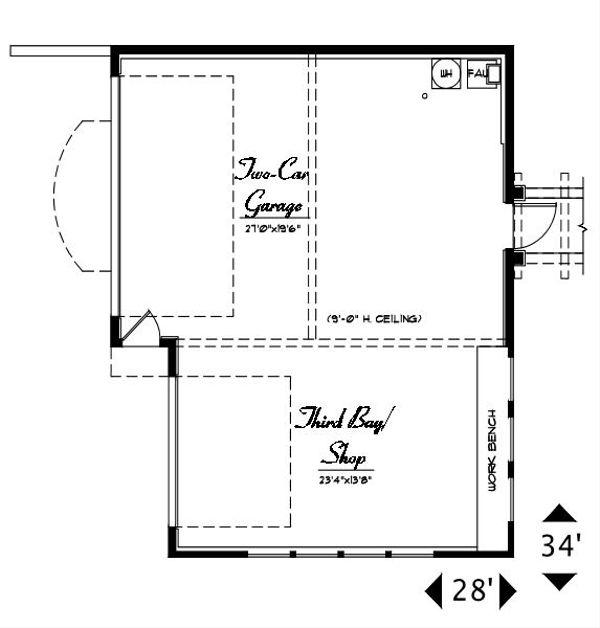 Craftsman Floor Plan - Main Floor Plan #487-3