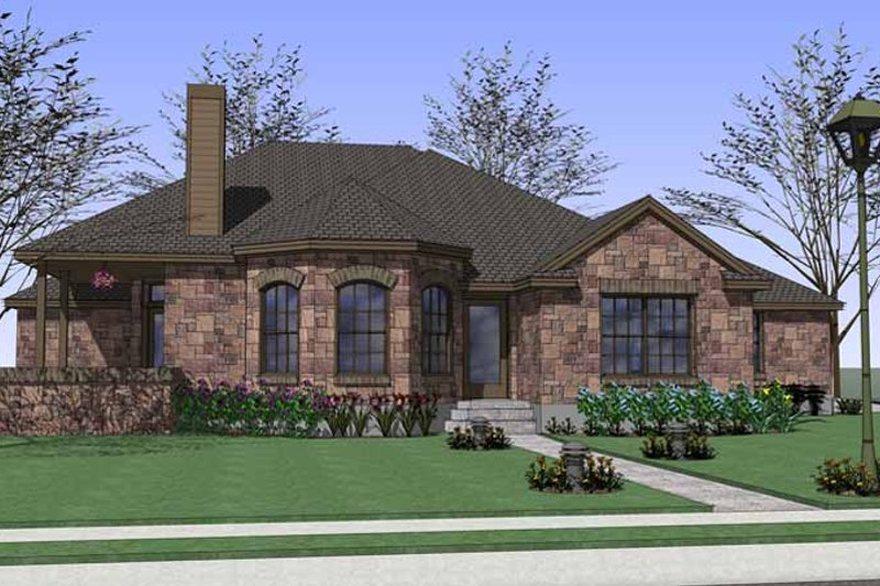 Country Exterior - Front Elevation Plan #120-207