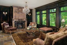 House Design - Tudor Interior - Family Room Plan #928-61