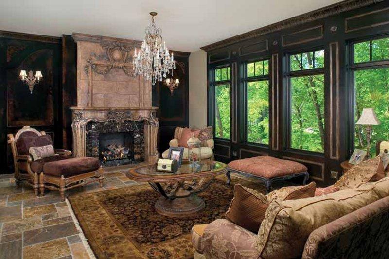 Tudor Interior - Family Room Plan #928-61 - Houseplans.com