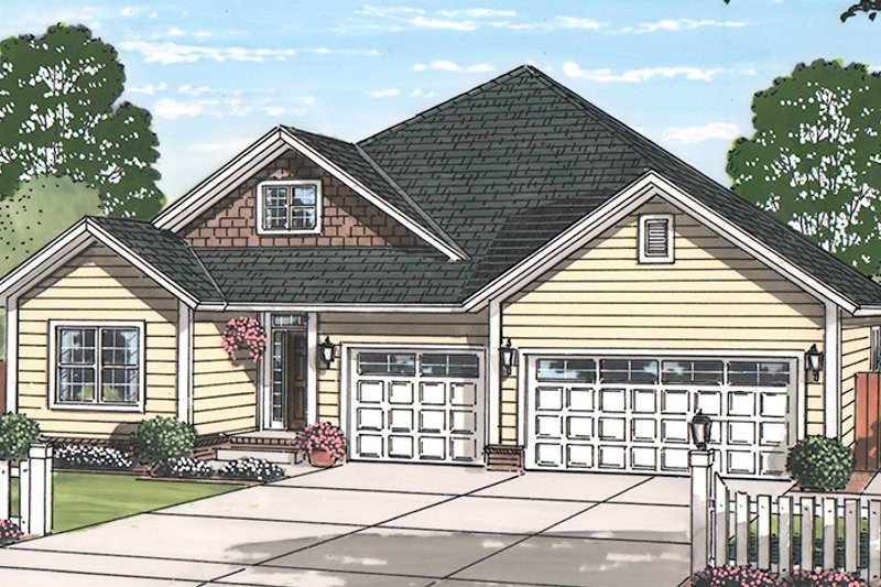 Country Exterior - Front Elevation Plan #513-2167 - Houseplans.com