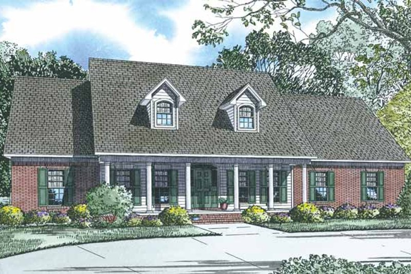 Architectural House Design - Traditional Exterior - Front Elevation Plan #17-2780