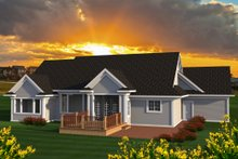 Architectural House Design - Ranch Exterior - Rear Elevation Plan #70-1193